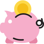 parris south piggy bank icon